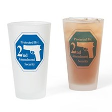 Protected By: 2nd Amendment Securit Drinking Glass