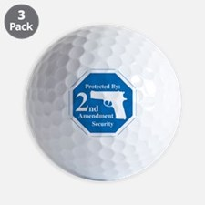 Protected By: 2nd Amendment Security Golf Ball