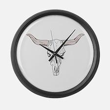 Longhorn Steer Large Wall Clock