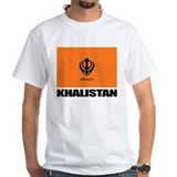 Khalistan Mens White T-shirts