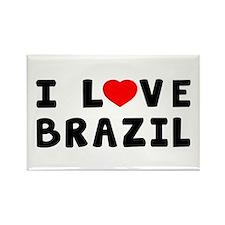 I Love Brazil Rectangle Magnet