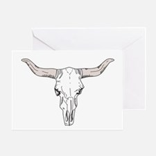 Bull Head Greeting Cards