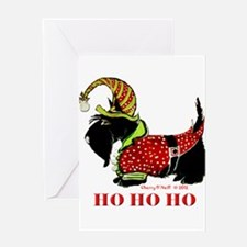 Santas Scottie Elf Greeting Cards