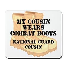 National Guard Cousin Desert Combat Boots Mousepad