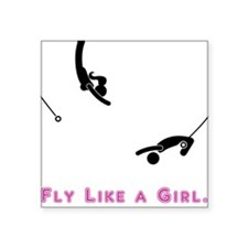Fly Like a Girl (Black) Sticker