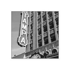 """Tampa Theatre Florida Histo Square Sticker 3"""" x 3"""""""