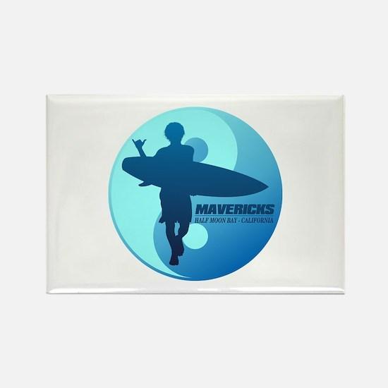 Mavericks-Half Moon Bay (blue) Magnets