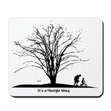Beginnings Learning to Ride Father Son Mousepad