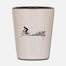 Nature Ride Cycling Shot Glass