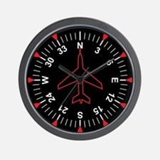 Flight Instruments Wall Clock