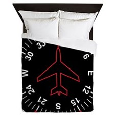Flight Instruments Queen Duvet