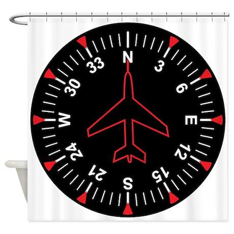 Flight Instruments Shower Curtain