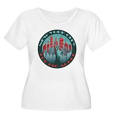 NYC Big Apple round Plus Size T-Shirt