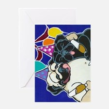 Pug Party Greeting Cards