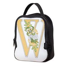 Monogram Letter W Neoprene Lunch Bag