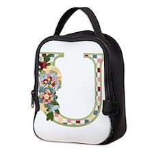 Monogram Letter U Neoprene Lunch Bag