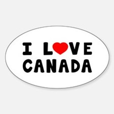 I Love Canada Decal