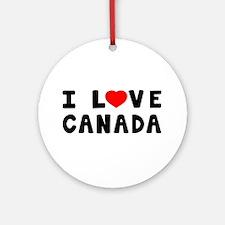 I Love Canada Ornament (Round)