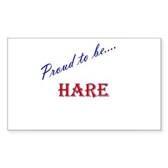 Hare Rectangle Decal