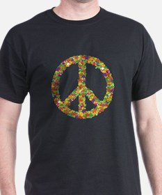 Fruit and Vegetable Peace Sign T-Shirt