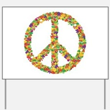Fruit and Vegetable Peace Sign Yard Sign
