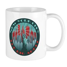 NYC Big Apple round mgs Mugs