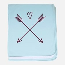 Arrows with Heart baby blanket