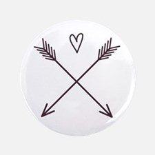 Arrows With Heart 3.5&Quot; Button