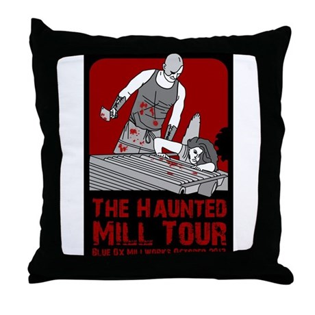 Haunted Mill Tour 2013 Throw Pillow