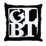 GLBT Black Pop Throw Pillow