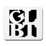 GLBT Black Pop Mousepad
