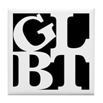 GLBT Black Pop Tile Coaster