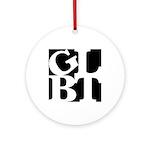 GLBT Black Pop Ornament (Round)