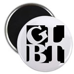 "GLBT Black Pop 2.25"" Magnet (100 pack)"