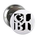 "GLBT Black Pop 2.25"" Button (100 pack)"