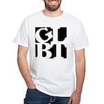 GLBT Black Pop White T-Shirt