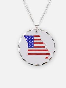 Missouri Flag Necklace