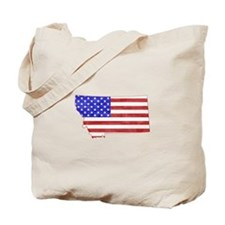 Montana Flag Tote Bag