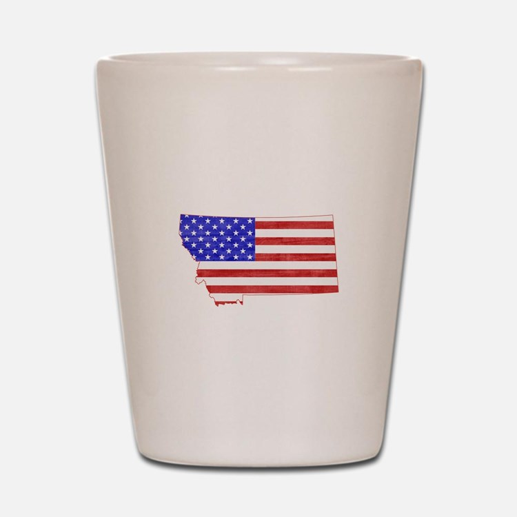 Montana Flag Shot Glass