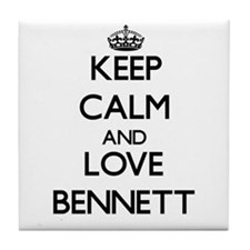 Keep calm and love Bennett Tile Coaster