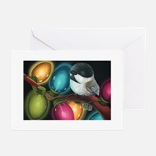 Chickadee Holiday Lights Greeting Cards (Pk of 20)