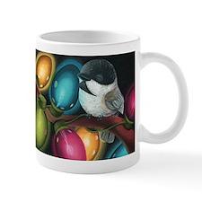 Chickadee Holiday Lights Mug