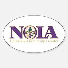 NOLA Mardi Gras Oval Bumper Stickers