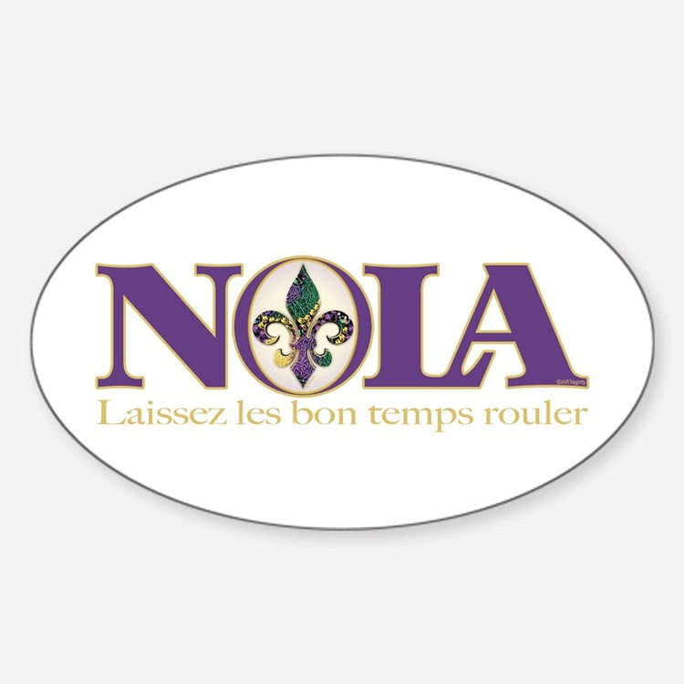 NOLA Mardi Gras Oval Decal