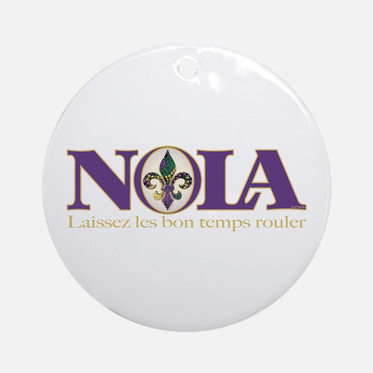 NOLA Mardi Gras Ornament (Round)