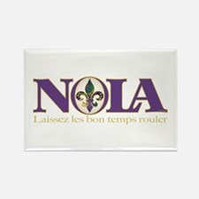 NOLA Mardi Gras Rectangle Magnet