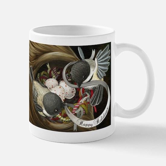 Chickadee Holiday Nest Mug