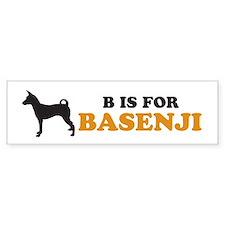 """B is for Basenji"" Bumper Bumper Sticker"