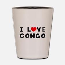 I Love Congo Shot Glass