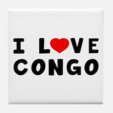 I Love Congo Tile Coaster